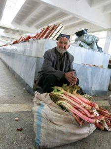 Rhubarb seller
